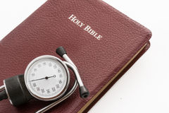 High Blood Pressure, Stress and the Bible Stock Photo