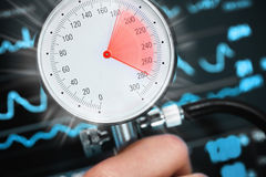 High blood pressure threatens health.  Royalty Free Stock Image