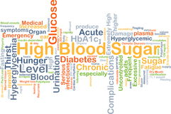 High blood sugar background concept Stock Photos