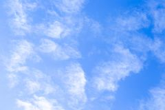 High blue sky with white clouds stock images