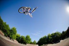 High BMX jump Stock Photography
