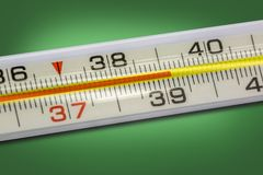 High body temperature Royalty Free Stock Images