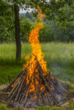 High bonfire Royalty Free Stock Photography