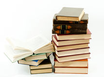 High books stack Stock Images
