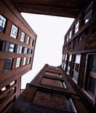 High brick buildng Stock Photos