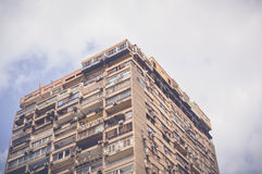 High buidling. With view of sky background Royalty Free Stock Images