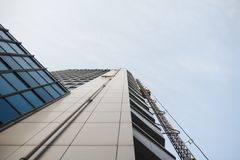 High building from the bottom to the top. High building from the bottom Stock Images
