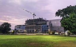 High building construction progress Royalty Free Stock Photo