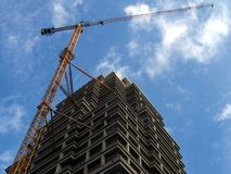 High building crane Stock Image