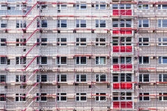High building house in scaffolding Royalty Free Stock Image