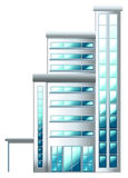 A high building. Illustration of a high building on a white background Stock Photo