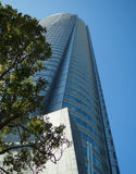 High building over blue sky Royalty Free Stock Photography