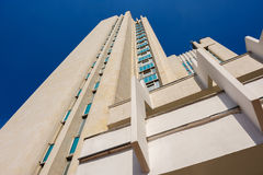 High building with perspective royalty free stock photos