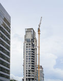 High Building site with crane Stock Photography