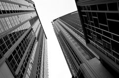 High building. Two high building it  beside Stock Image