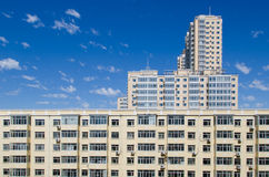 High building under bluesky Stock Photo