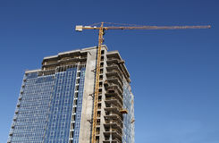 High building under construction Royalty Free Stock Photo