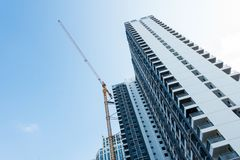 High building under construction Royalty Free Stock Photography