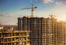 High buildings construction Stock Image