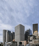 High buildings of financial district of modern city, Boston MA Stock Image