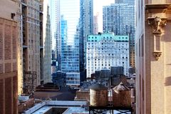 High buildings in New York royalty free stock photos