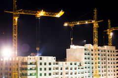 High buildings under construction Royalty Free Stock Photography