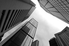 High business buildings. Black and white Stock Image
