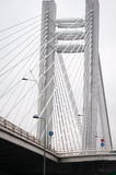 High cable bridge Royalty Free Stock Image