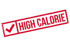 High Calorie rubber stamp Royalty Free Stock Image