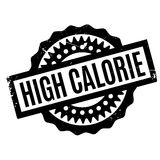 High Calorie rubber stamp. Grunge design with dust scratches. Effects can be easily removed for a clean, crisp look. Color is easily changed Stock Image