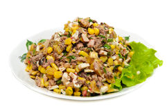 High-calorie salad Royalty Free Stock Photography
