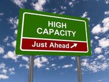 High capacity sign Royalty Free Stock Photos
