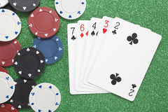 High Card. Casino concepts Royalty Free Stock Image