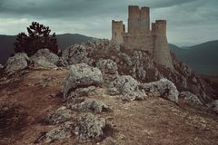High castle of Calascio stock images