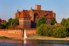High Castle of Malbork Castle River View Royalty Free Stock Photo