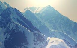 High Caucasus mountains Stock Photos