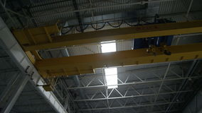 High Ceiling in Empty Factory Storage stock video footage