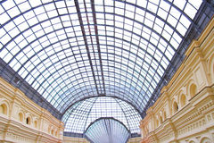 High ceiling in GUM, Moscow,Russia Stock Photos