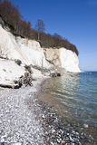 High chalk cliffs at the coast of Ruegen Stock Photo
