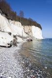 High chalk cliffs at the coast of Ruegen Stock Photo