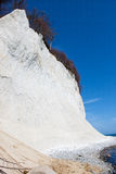 High chalk cliffs at the coast of Ruegen Royalty Free Stock Photo