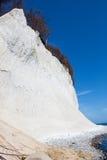 High chalk cliffs at the coast of Ruegen Royalty Free Stock Photo