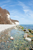 High chalk cliffs at the coast of Ruegen Stock Photography