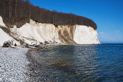 High chalk cliffs at the coast of Rugen island. Germany Stock Images