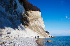 High chalk cliffs at the coast of Rugen island. Germany Stock Image