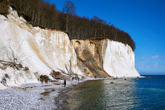 High chalk cliffs at the coast of Rugen island. Germany royalty free stock image