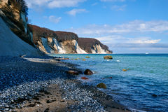 High chalk cliffs at the coast of Rugen island. Germany Stock Photography