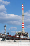 High chimney from oil refinery Royalty Free Stock Photography