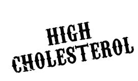 High Cholesterol rubber stamp Stock Photography