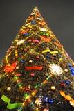 High Christmas tree. On the street stock photo